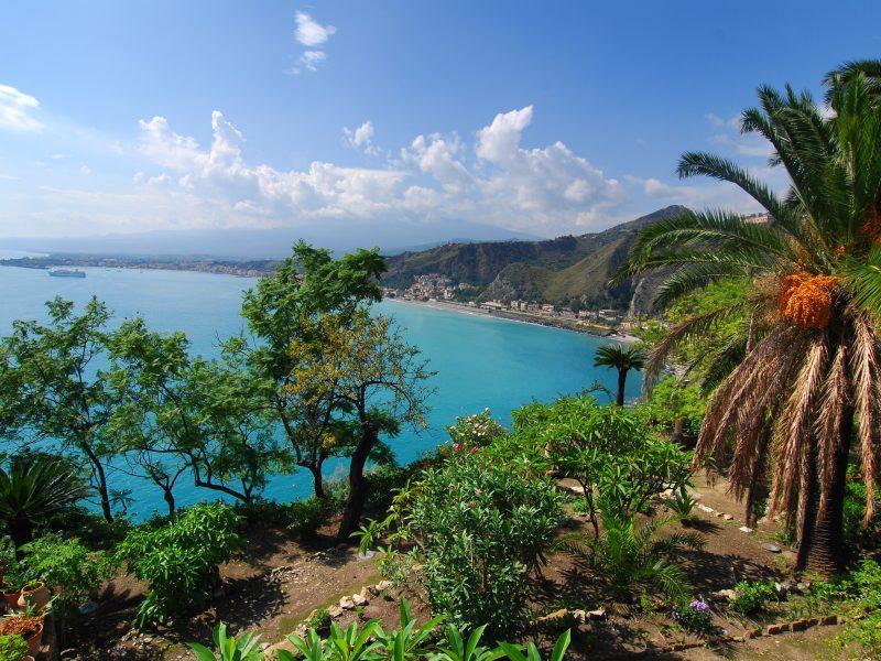 Sicilië uitzicht op zee