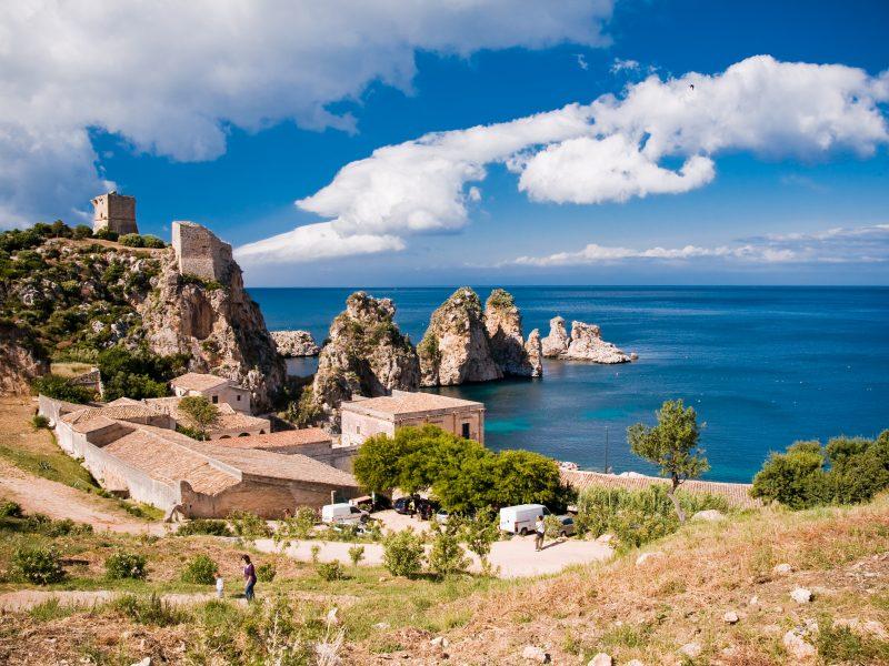 Castellammare del Golfo uitzicht op zee
