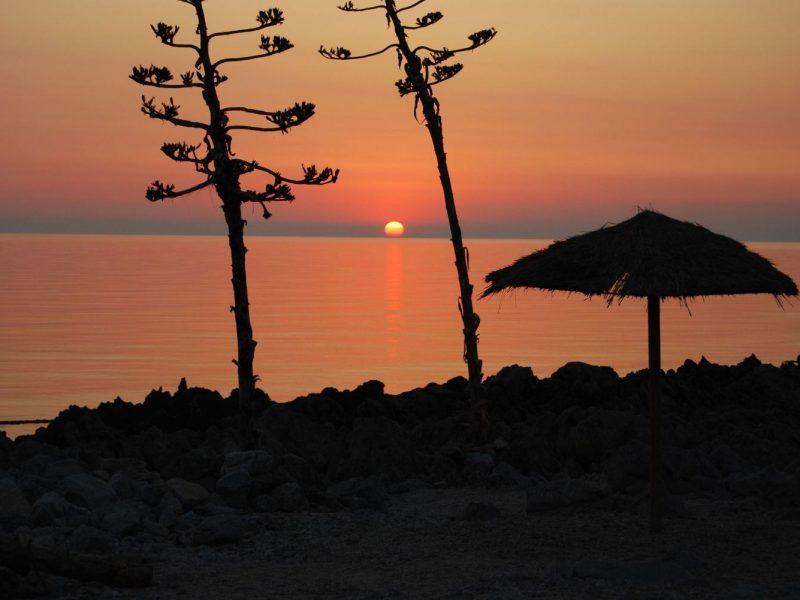 Camping El Bahira zonsondergang