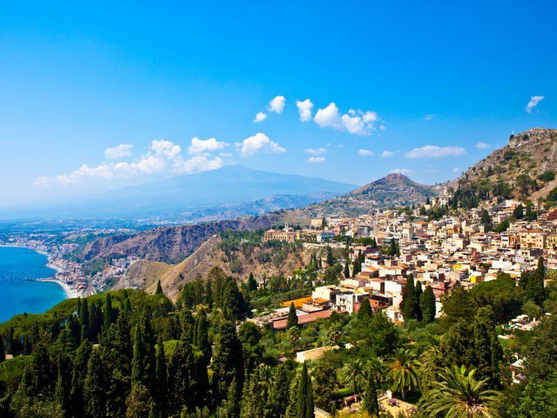 Taormina uitzicht op stad