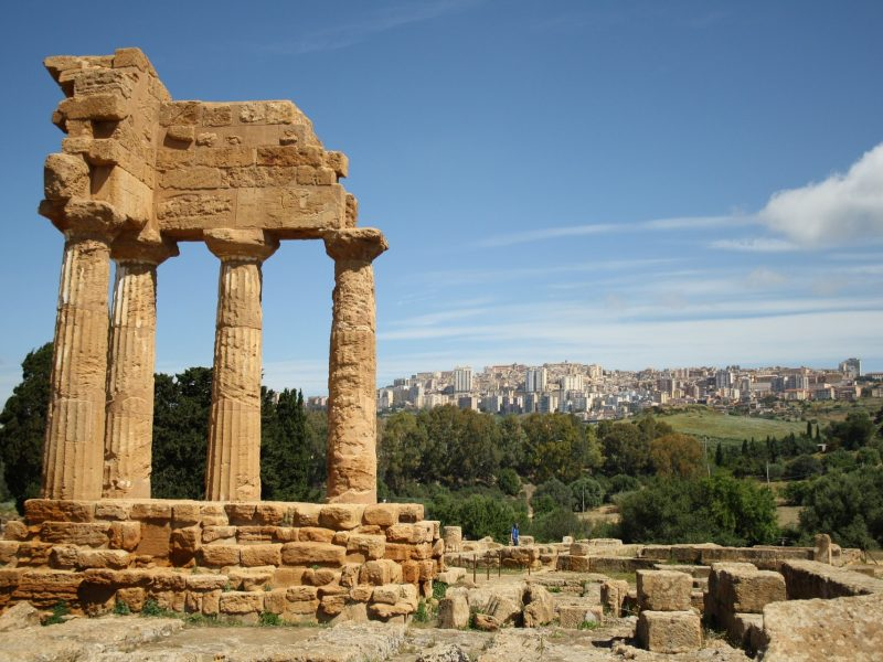 Agrigento Vallei der Tempels ruïnes