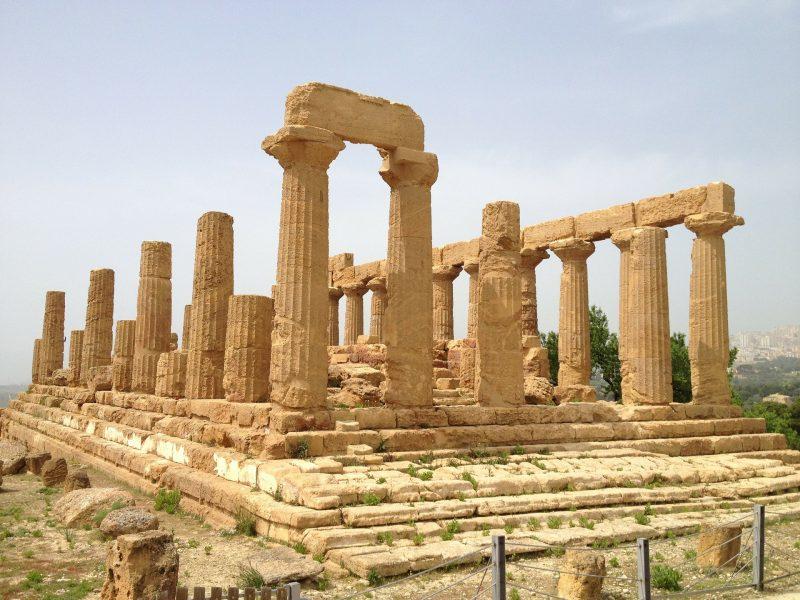 Agrigento Vallei der Tempels ruïne