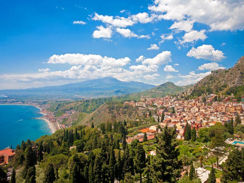 Uitzicht op Taormina