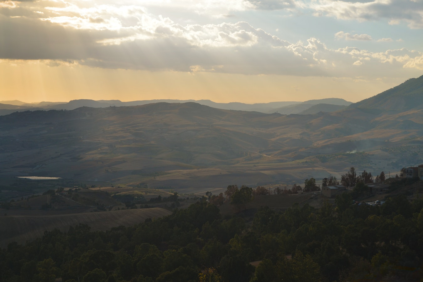 Onontdekt Agrigento, heuvels
