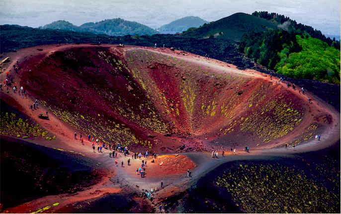 Foto van vulkaan de Etna