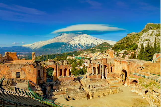Grieks theater van Taormina op rondreis op Sicilië